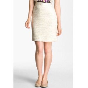 Kate Spade gold tweed pencil skirt